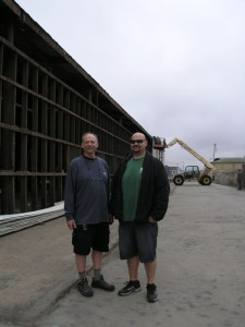 Steve and Noah at New Site